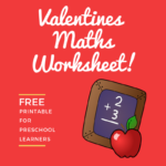 printable valentines maths worksheet