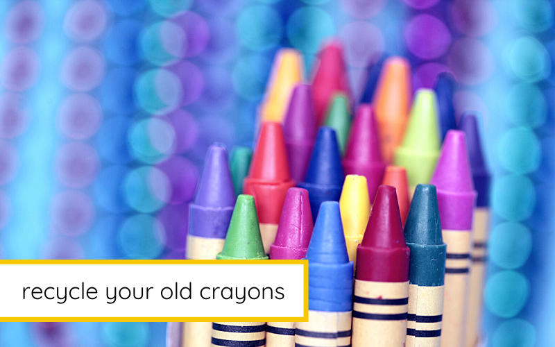 recycle old crayons to make candles