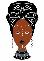 African Head Wrap black and white style - Black Any Occasion Card