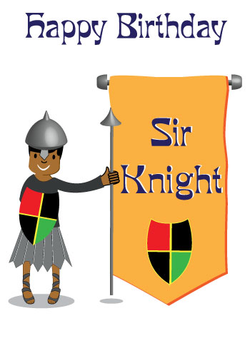 Black Knight 14 Today Birthday Card (tb0014)