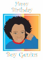 Boy Genius - Black Birthday Card for Children
