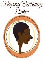 Finger Wave Hair Sister - Black Birthday Card for Her Relations