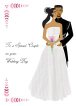 Elegant Bride & Groom - Wedding Card
